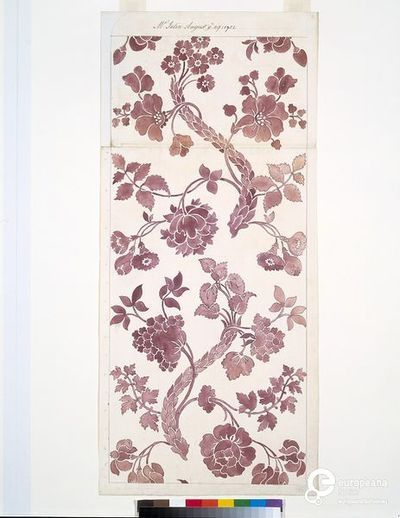Design for a woven silk by Anna Maria Garthwaite, Spitalfields, 1752-1753. Courtesy Victoria and Albert Museum, CC BY.