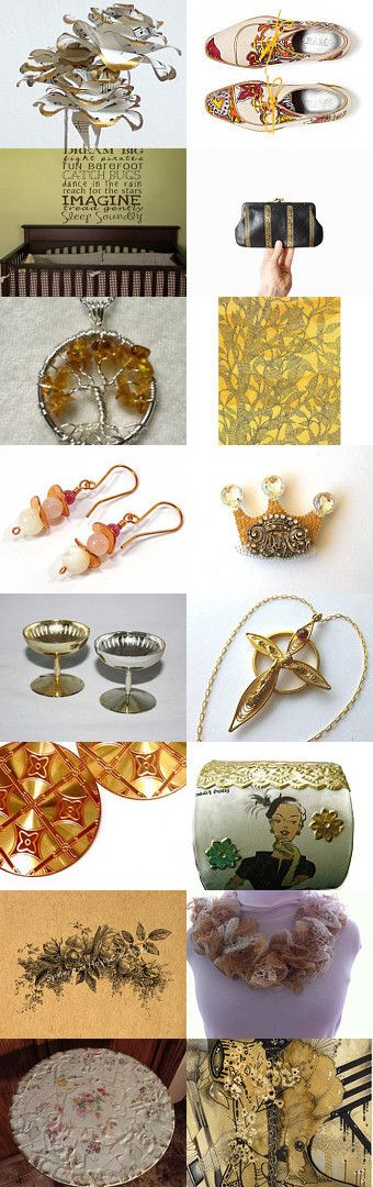 Golden Touch by Carla on Etsy--Pinned with TreasuryPin.com