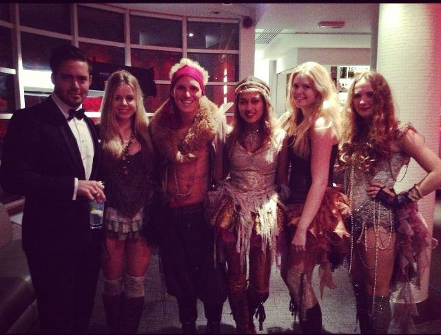 High Society girls all dressed up and ready to work on an episode of Made in Chelsea!