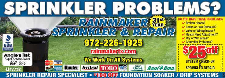 BEST Sprinkler Repair Coupon IN CARROLLTON AND THE COLONY