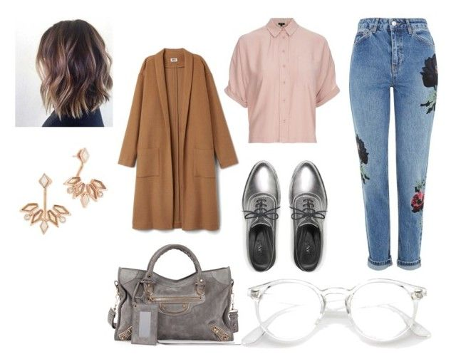"""Untitled #48"" by manjap on Polyvore featuring Topshop, Max&Co., Balenciaga and Kendra Scott"