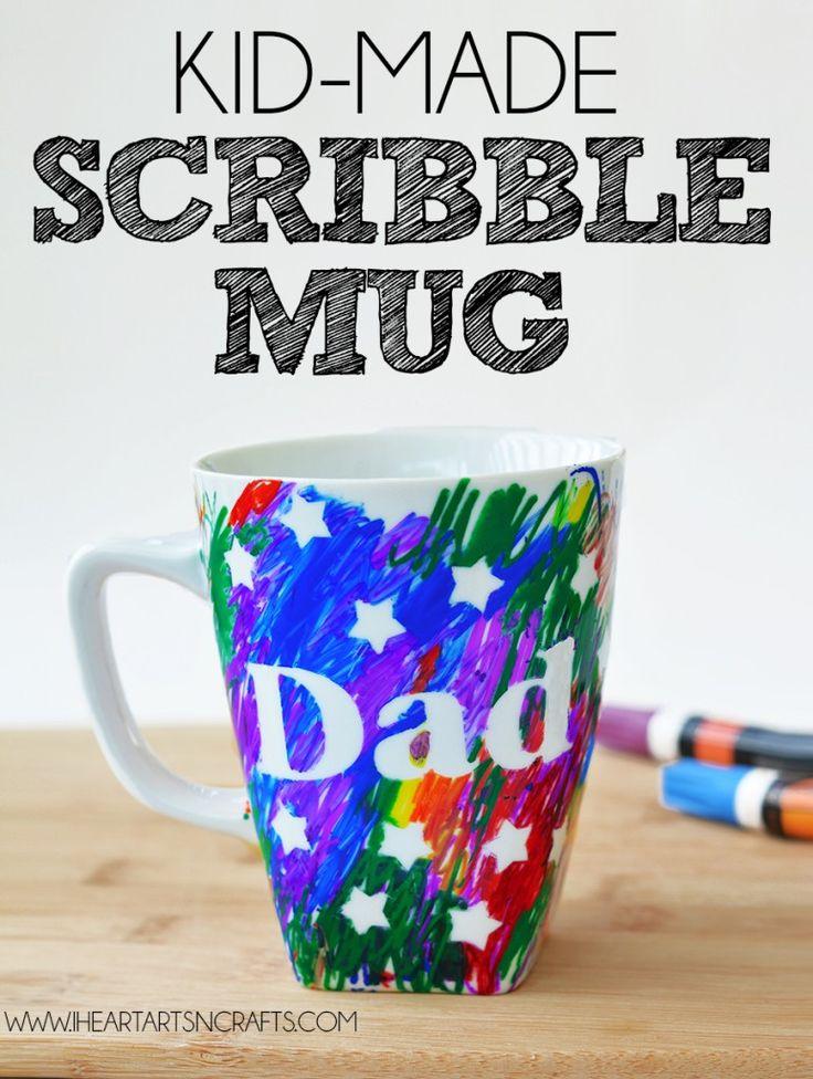 Kid-Made Scribble Gift Mug