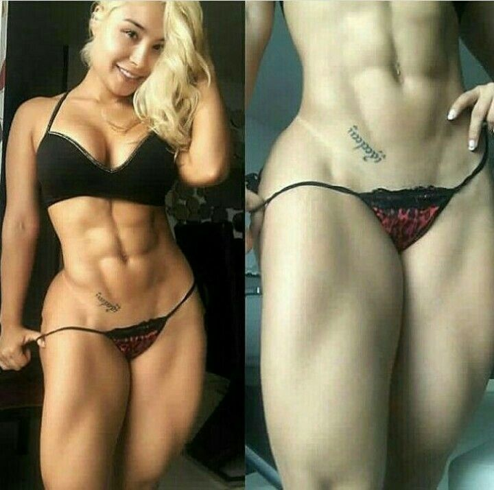 image Extremely hot muscle woman oiled amp anal fucked