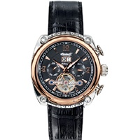 INGERSOLL Cimarron Automatic Black Leather Strap