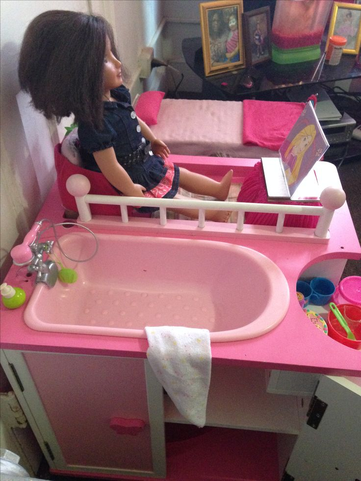 Upcycled A Babydoll Changing Table Into A Doll Apartment. Except For The  Dolls Everything Is