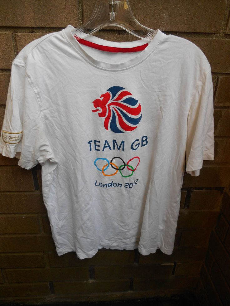 Adidas Medium Olympics London 2012 Team GB Logo T- Shirt Official