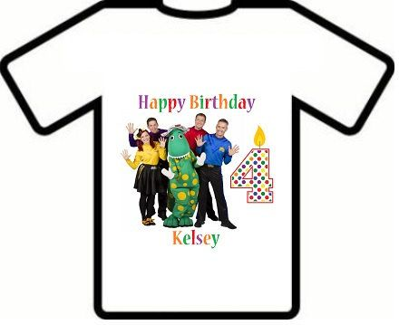 Personalized The Wiggles birthday shirt by KottonPlayground, $8.49