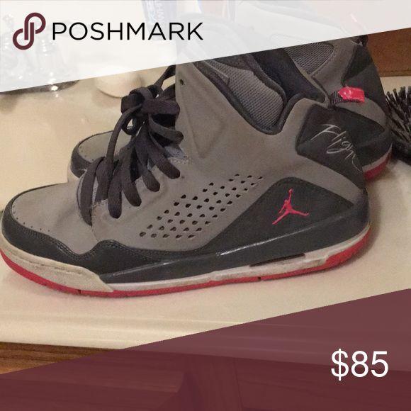 Flight jordans size 6 1/2 pink and grey New Jordan's Jordan Shoes Athletic Shoes