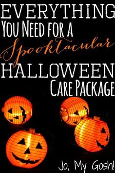 Use this roundup of care packages, treats, gifts, and recipes to create your own Halloween care package.