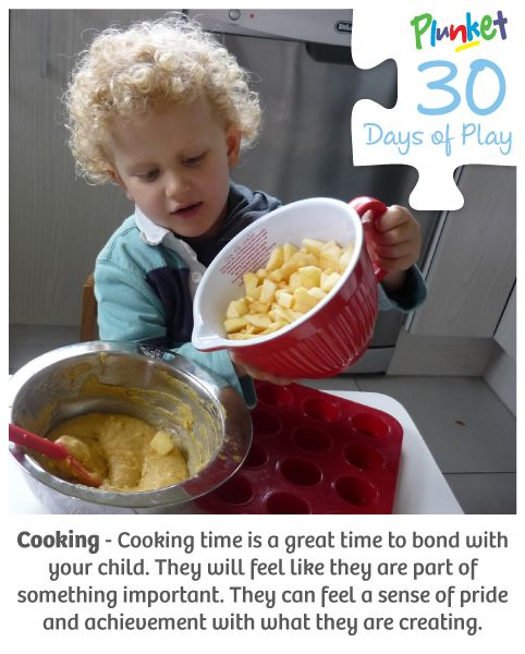 Nurture your child's' love for food and cooking today in our #30daysof play activity
