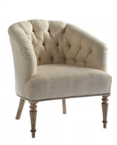 Lillian August Custom Upholstery Tufted Barrel Back Mercer Chair   Hamilton  Park Interiors   Upholstered Chair Salt Lake City Furniture U0026 In.