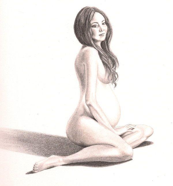 Pregnant women art nude