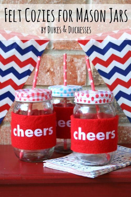 felt cozies for mason jars
