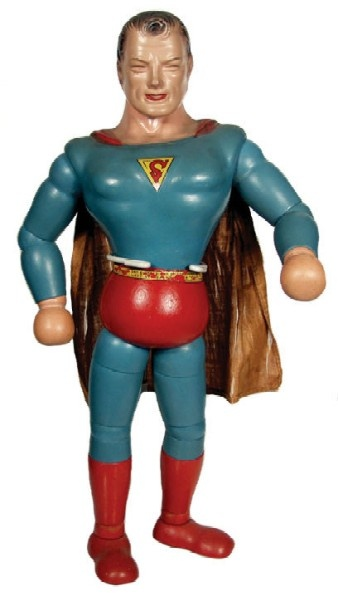 1940 Ideal Wood and Composition Superman Doll