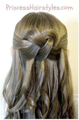 Woven Knot Hair Tutorial by Princess Hairstyles - great for weddings, prom, etc.!