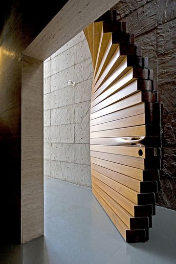 This door is awesome!    Curtain Door by Matharoo Associates | Apartment Therapy