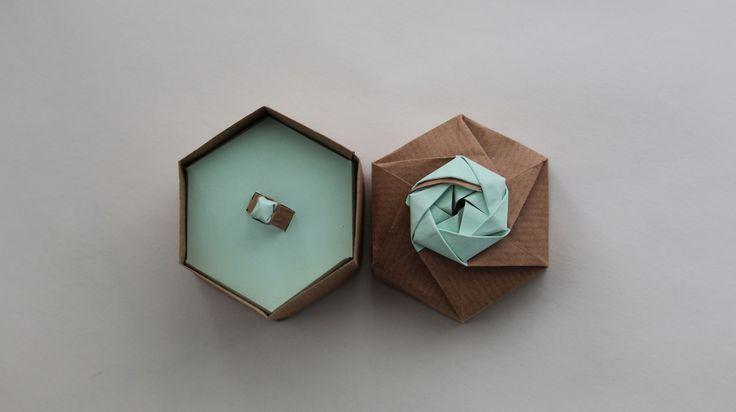 """Consultate il mio progetto @Behance: """"anello di origami"""" https://www.behance.net/gallery/31466517/anello-di-origami"""