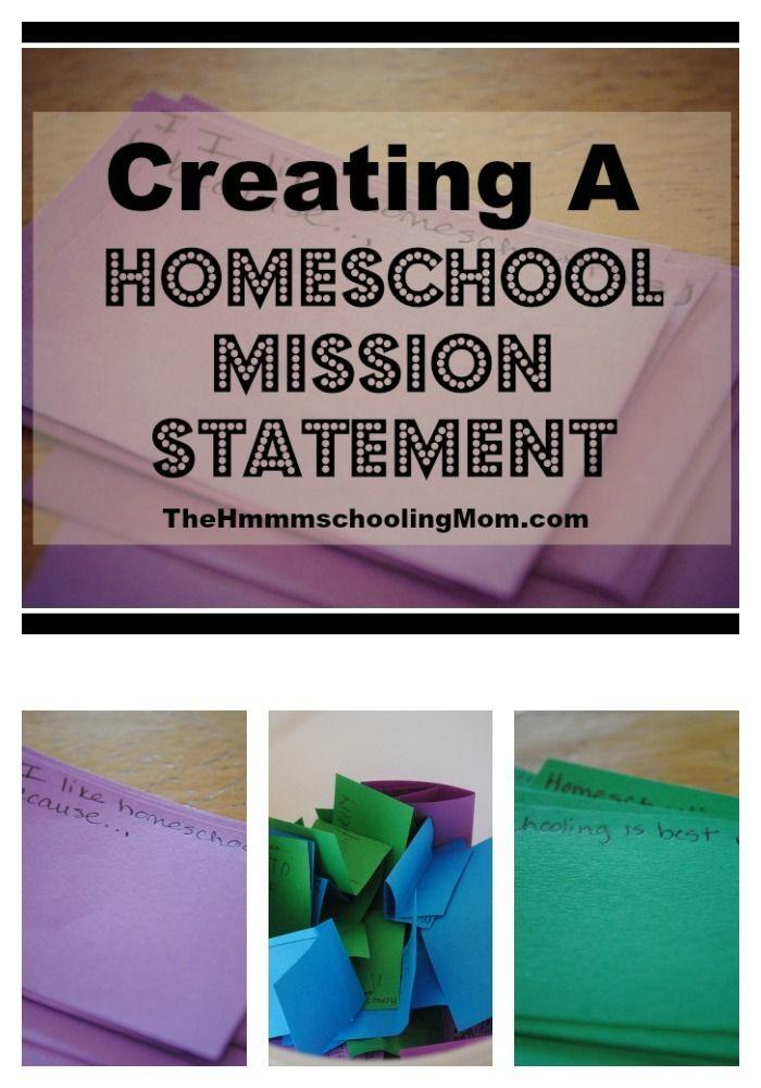 Homeschool Mission Statement Family Activity The HmmmschoolingMom