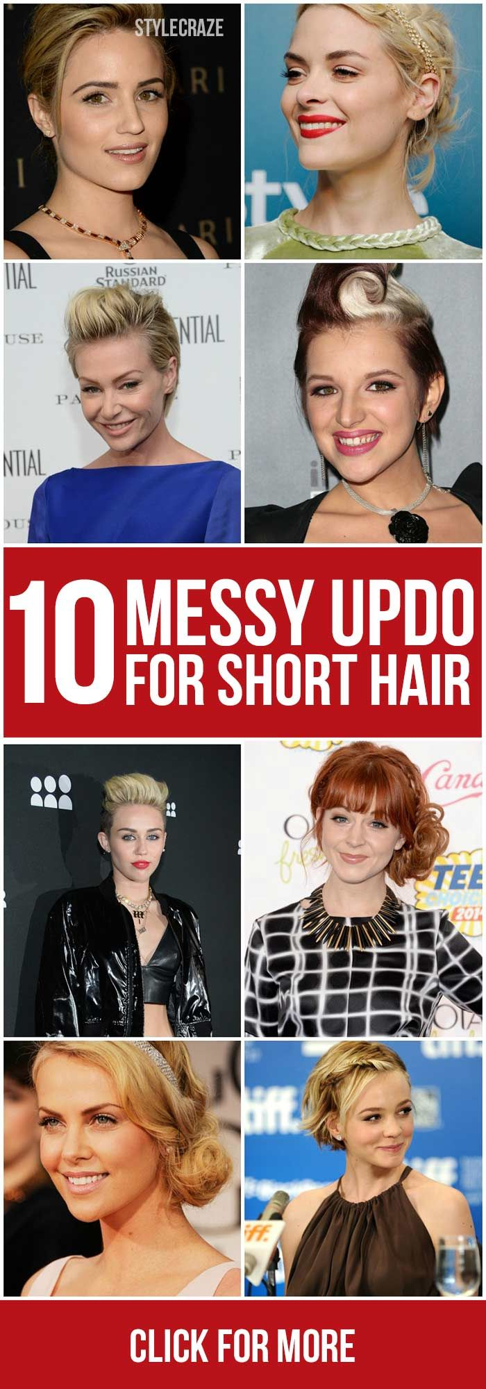 We all want to look stylish and trendy, don't we? Want to update your current hairstyle? Then try out these 10 messy updos for short hair that are the new hot favorites!