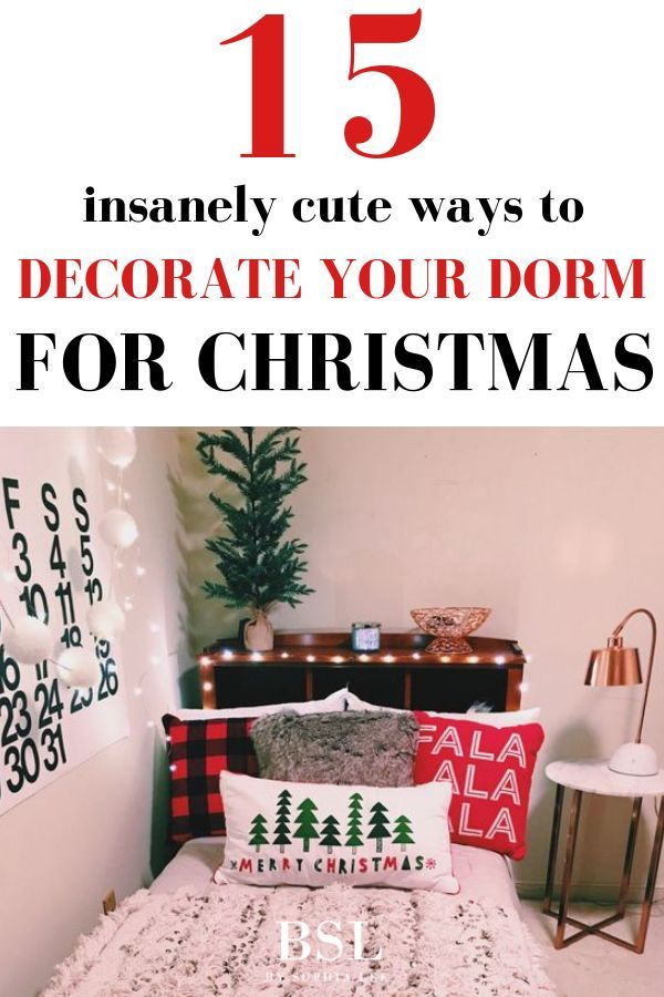 15 Extremely Cute Dorm Christmas Decorations To Copy This Year Christmas Dorm Decorations Christmas Dorm Dorm Room Christmas Decorations