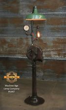 Steampunk Lamp Industrial Machine Age Steam Gauge Light Gear Floor Lamp