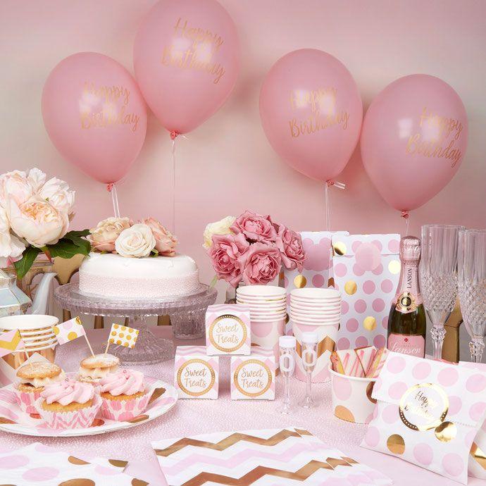 1 St Birthday CONFETTI Fille Rose Fête Décoration de Table