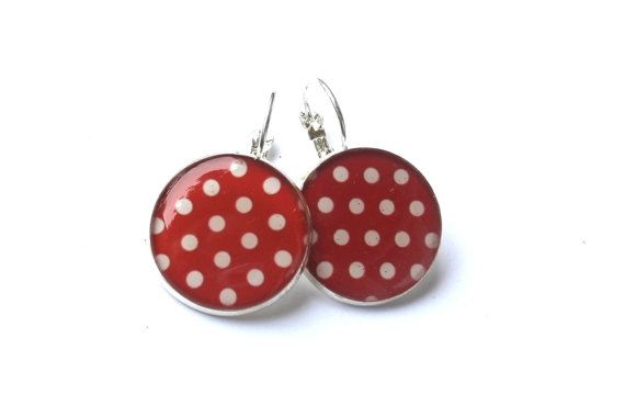 Hey, I found this really awesome Etsy listing at https://www.etsy.com/listing/269869277/red-polka-dot-earrings-dangle-earrings