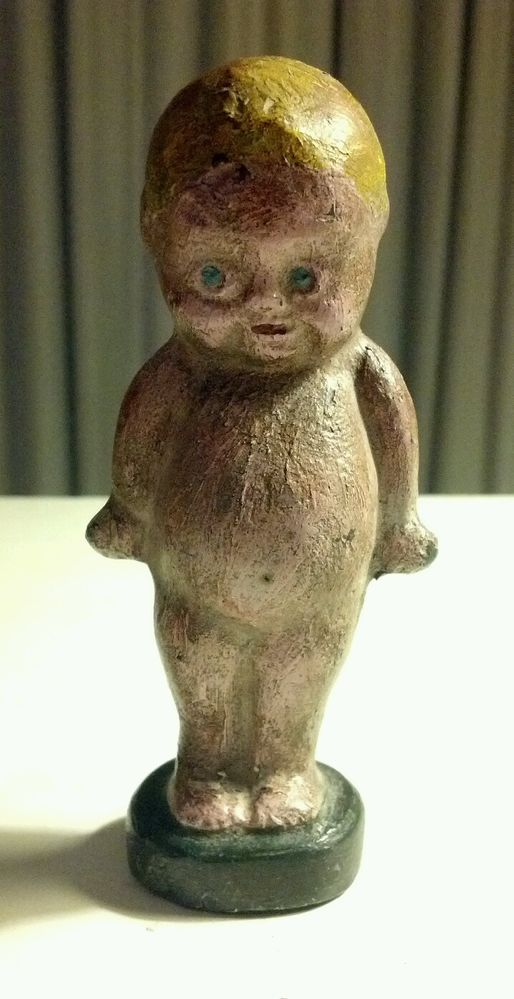 Antique C 1900 Kewpie Doll Chubby Baby Cast Iron Figure