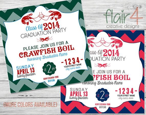 Printable Invitation Crawfish Boil LSU TULANE by FlairFour