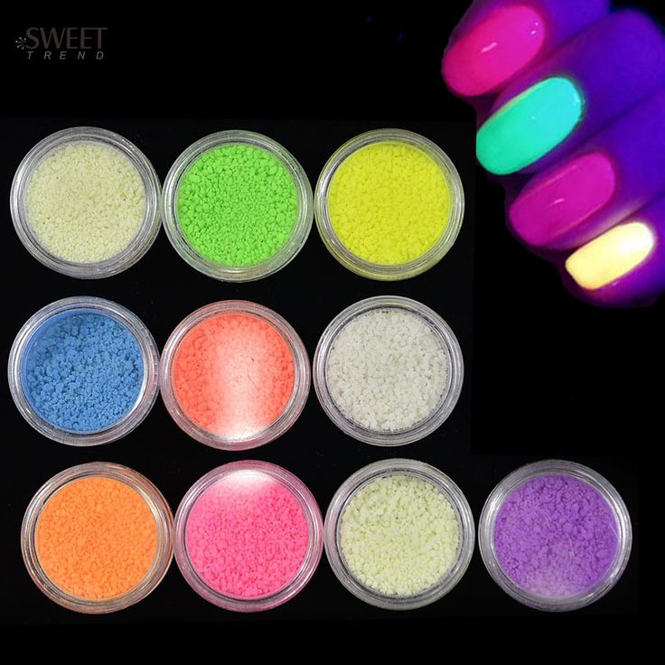 Buy 1pcs Nail Art Fluorescent Luminous Glitter Powder Sand Glow In Dark for 3D Salon Nails DIY Design Decor Nail Accessories NC325 at JacLauren.com