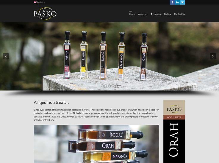 Pasko Liqueur Website http://pasko-liker.hr/?lang=en