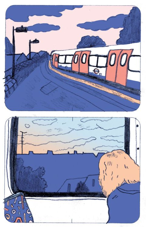 Everyone likes looking out of train windows From my new collection of really short comics titled Quiet Moments.  Laurel Pettitt