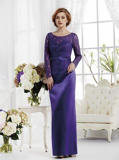 long sleeve purple lace