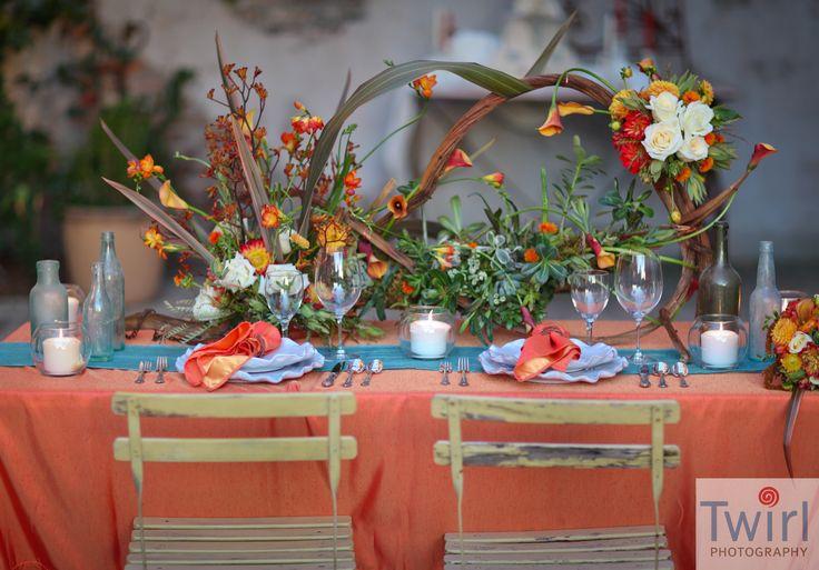 New Orleans Vintage Micro Wedding I Seasonal Fall Flower Table Setting