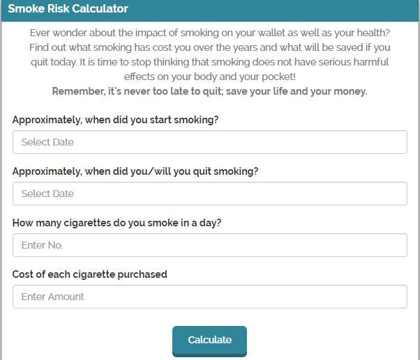 How to calculate smoke risk factor