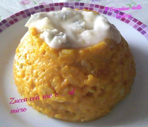 Zucca con riso e formaggio