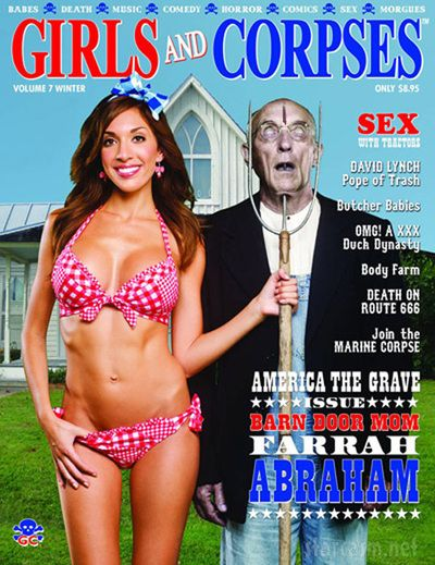 Magazine Covers using a parody of American Gothic by Grant Wood.