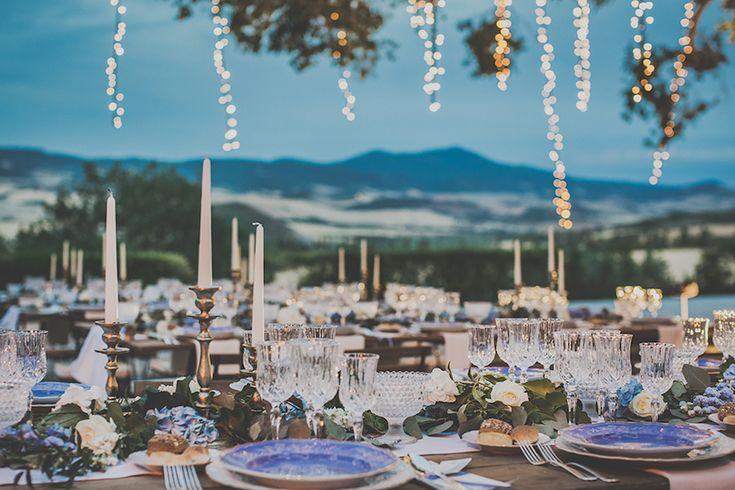 Un matrimonio azzurro pervinca in Val dOrcia