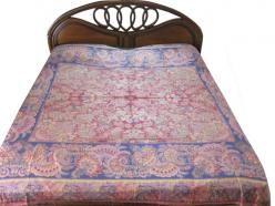 Red Blue Pashmina Bedspread Reversible Bedding King Size Blanket Throw