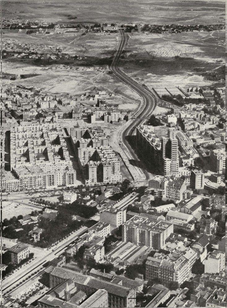 Imágenes del viejo Madrid 1954 - María de Molina salida carretera de Barcelona. www.viejo-madrid.es