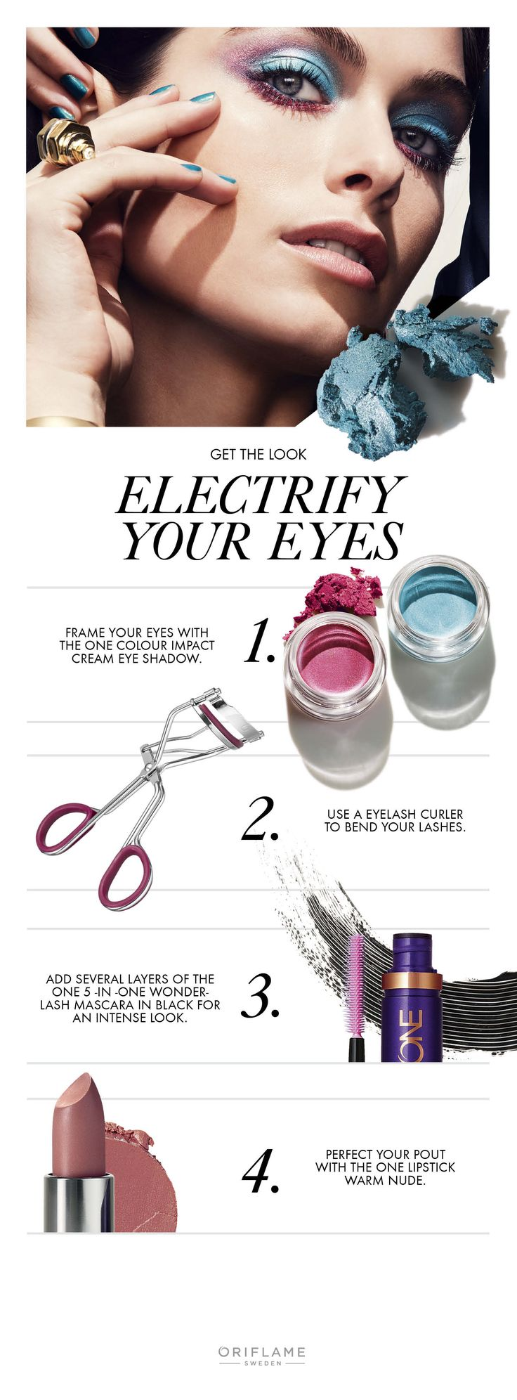Electrify your eyes! #getthelook #oriflame - https://www.facebook.com/TienditadeBellezaLaguna/