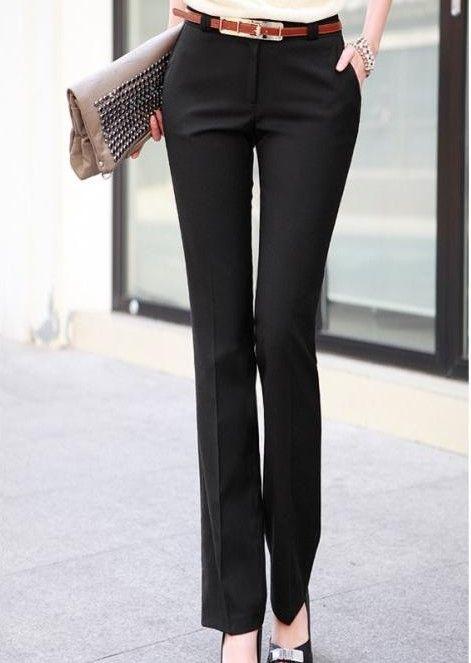 Venta al por mayor pantalones de dama de vestir-Compre pantalones ...