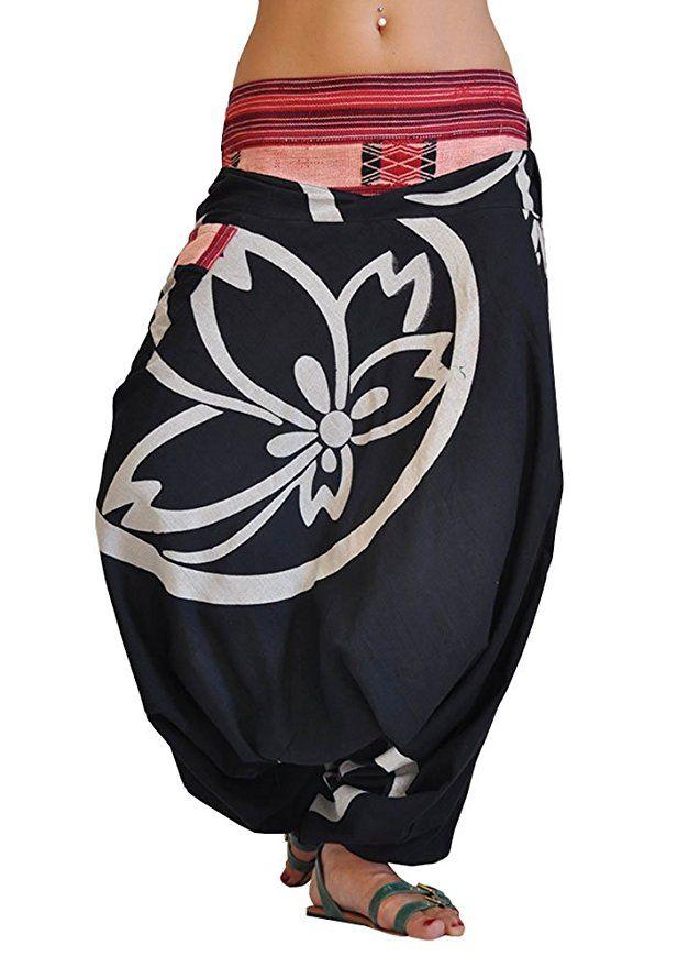 virblatt harem pants traditional weavings S - L alternative clothing- Besonders