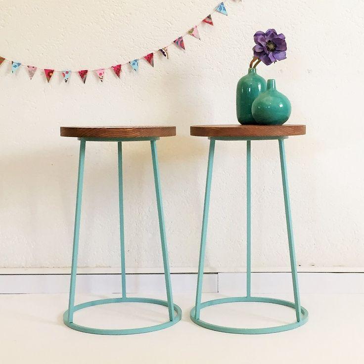 Tabouret gueridon vintage industriel scandinave meubles for Table tripode scandinave