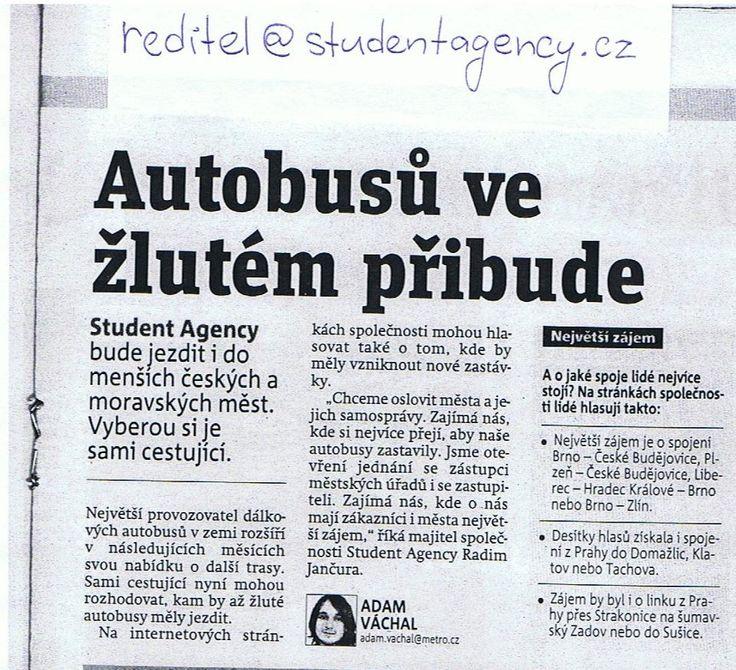 Autobusy STUDENT AGENCY při trase Brno - Mikulov - Vídeň
