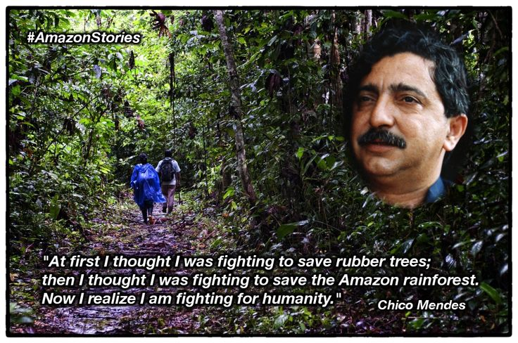 When talking about the forests of the #Amazon we shouldn't forget about a really important person who fought for them. #AmazonStories credit of #Chico #Mendes picture to Miranda Smith, Miranda Productions, Inc.