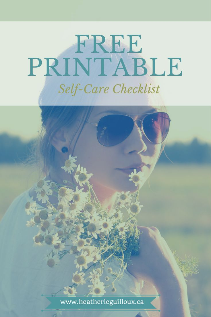 Free printable self-care checklist from the mental health resource library @hleguilloux | wellness | grief | loss | anxiety | depression