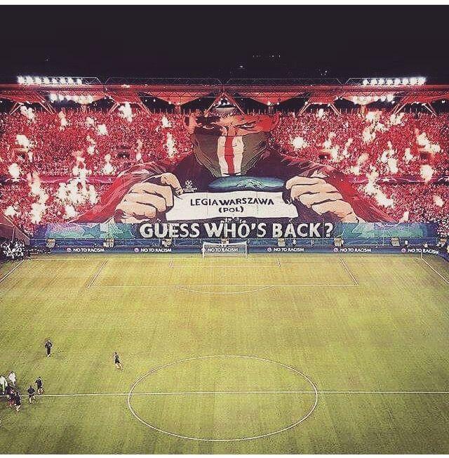Legia Varsavia. Warsaw. Legia Warszawa. Ultras. Football. Support