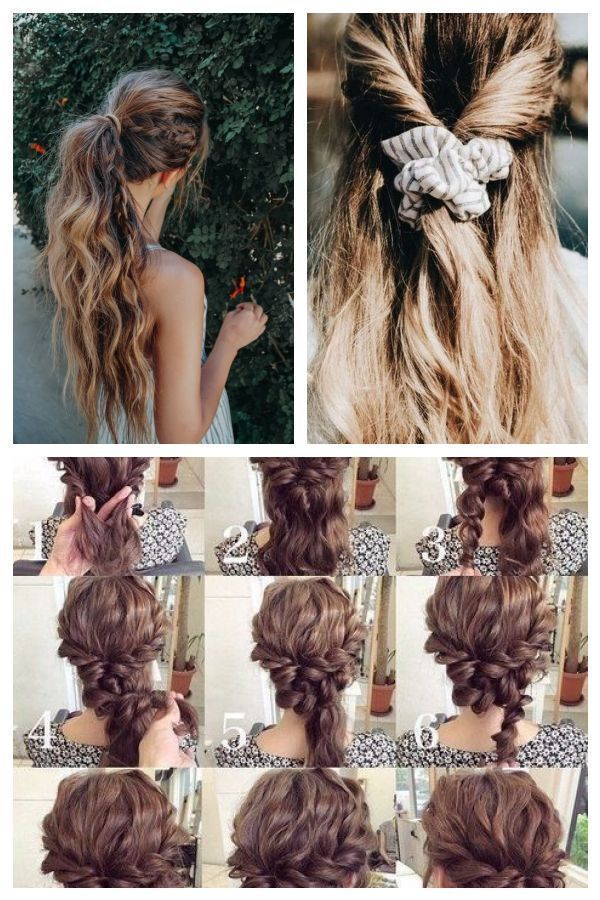 High Ponytail Bohemian Hairstyle For Long Hair With A Braid Messy And Easy Beac Hairstyles Bohohairstyles In 2020 Bohemian Hairstyles Hair Styles Long Hair Styles