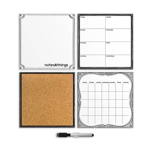 Product Image for WallPops!® Dry-Erase Calendar/Weekly Planner/Notes Board/Cork Board Organizer Set in White 1 out of 2